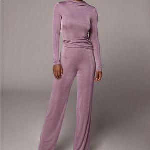 Iris Purple Kaia High Neck Jumpsuit - Medium